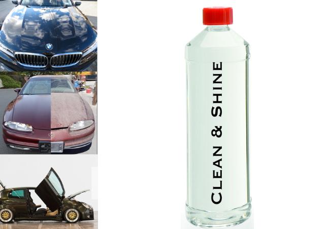 Clean & Shine, Waschen ohne Wasser Kfz, LKW, Motorrad, Lack, Chrom, Glas, uvm.