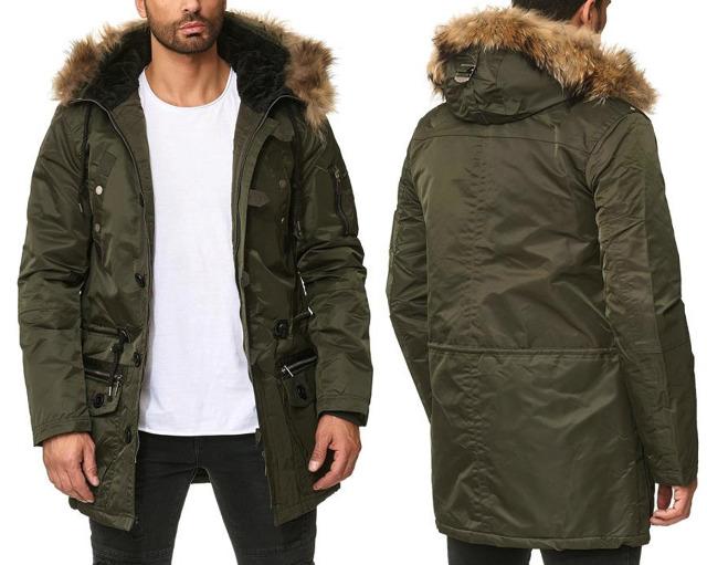 Herren Men Trend Jacke Mantel Winterjacke Steppjacke Outdoorjacke Kapuze mit Fell Langarm Jacken Oberteile Winter - 24,90 Euro