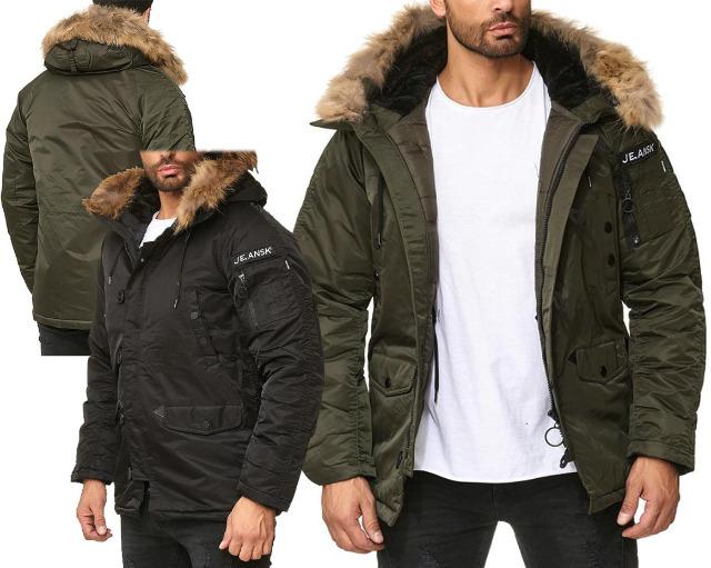 Herren Men Trend Jacke Mantel Bomberjacke Winterjacke Outdoorjacke Kapuze mit Fell Langarm Jacken Oberteile Winter - 27,90 Euro