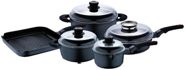 Bergner Silikon Kochtopfset 9 tlg in Profi Qualität zum Aktionspreis