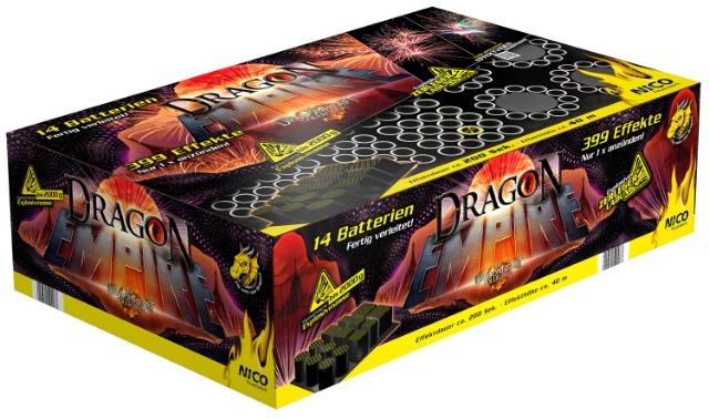 Nico Batterie Verbund Feuerwerk XXXL Dragon Empire 399 Schuss