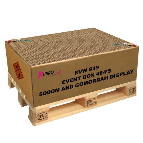 Sodom and Gomorrah 432 Schuss der Mega Verbund mit brachialer Power Batterie Feuerwerk Silvester