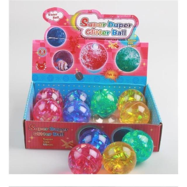 06-8091, LED Flash-Ball, 5, 5cm, glitzernd, Flummiball mit LED Licht, Springball