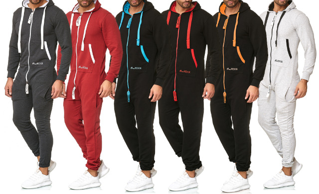 Herren Trend Jumpsuit Overall Einteiler Trainingsanzug Jogger Jogging Anzug Jogging Sportanzug Jogginganzug Hausanzug - 19,90 Euro