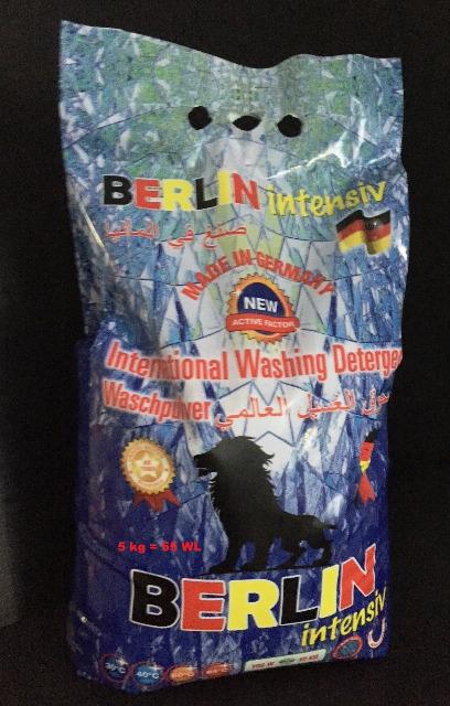 Berlin Waschmittel Vollwaschmittel Waschpulver 5 kg Beutel - MADE IN GERMANY -