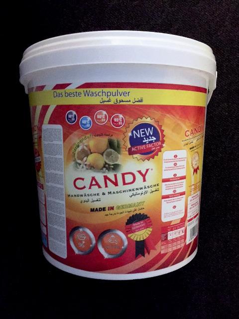 Candy Waschmittel Vollwaschmittel Waschpulver 6,8 kg Eimer - MADE IN GERMANY -