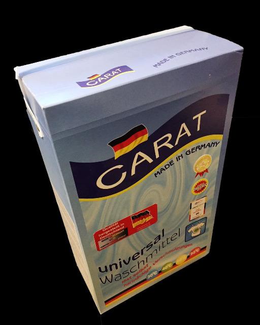 Carat Waschmittel Vollwaschmittel Waschpulver 7,8 kg Karton - MADE IN GERMANY -