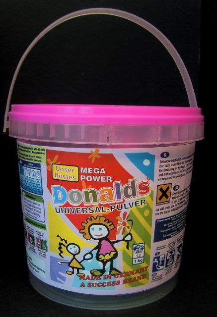 Donalds, sensitiv mit Desinfektions Waschpulver für Kinderwäsche 1,0 kg - Made in Germany -
