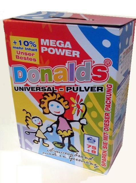 Donalds Waschmittel Vollwaschmittel Waschpulver 6,8 kg Karton - MADE IN GERMANY -