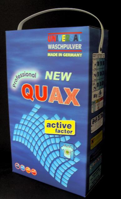 Quax Waschmittel Vollwaschmittel Waschpulver 10 kg Karton - MADE IN GERMANY -