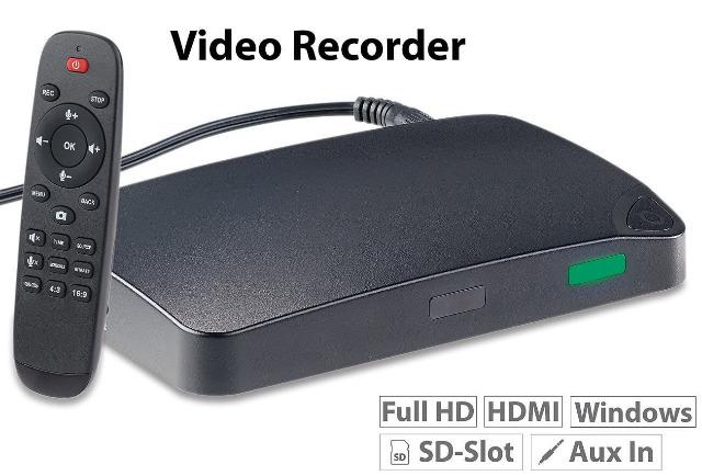 Auvisio HDMI-Video-Rekorder Game Capture V3 FullHD USB-/microSD-Aufnahme HDMI Video Recorder Aufnehmen Stream Streamen Recording