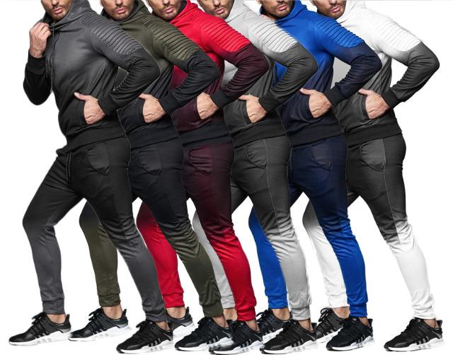 Herren Trend Jogging Anzug Sportanzug Hoody Sportmen Sweatshirtjacke Trainingsanzug Trainingsjacke Jogginganzug Hausanzug - 21,90 Euro
