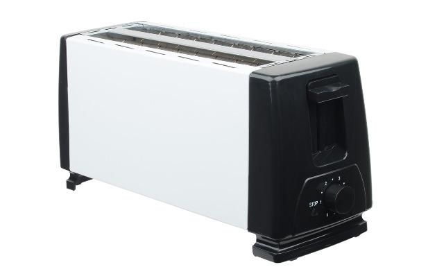 4 Scheiben Edelstahl Toaster 2 Langschlitz Röster 1300 Watt
