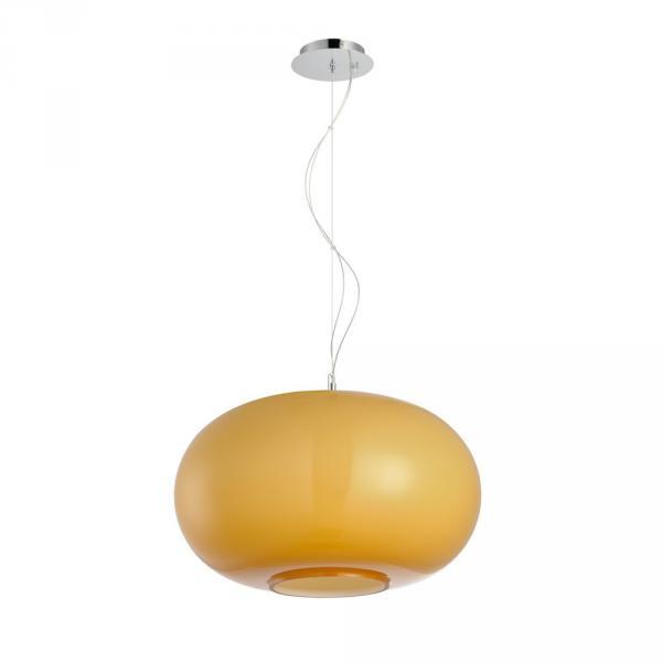 Blob L Opalglas Hängeleuchte Ø 45cm Orange