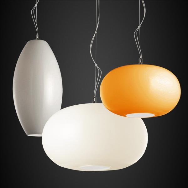 Blob M Opalglas Hängeleuchte Ø 35cm Orange
