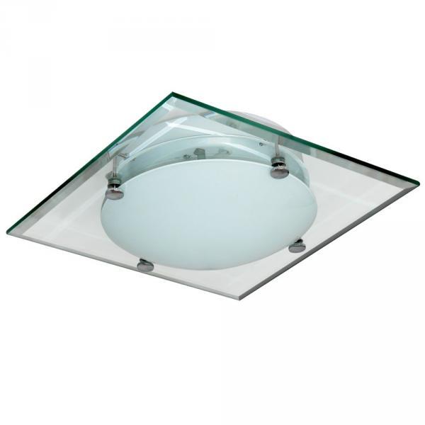 Flache Deckenleuchte Taxon mit Facettenschliff 30x30 cm