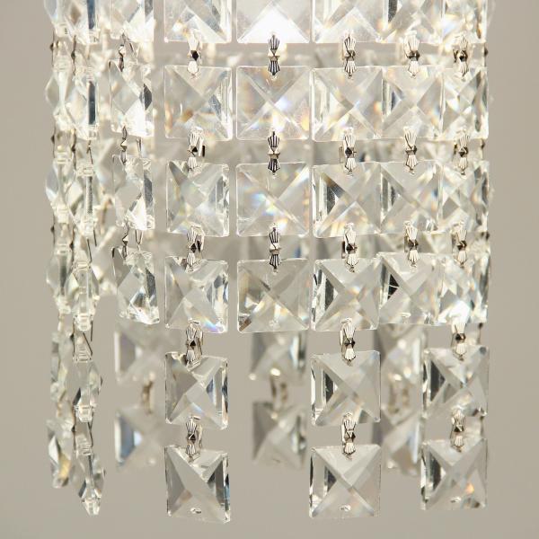 Glint Hängeleuchte mit Kristallen Ø 14cm Chrom