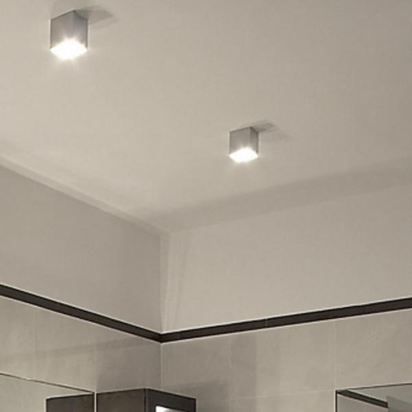 Madras Aufbau-Deckenleuchte Ø 8cm Alu-Gebürstet