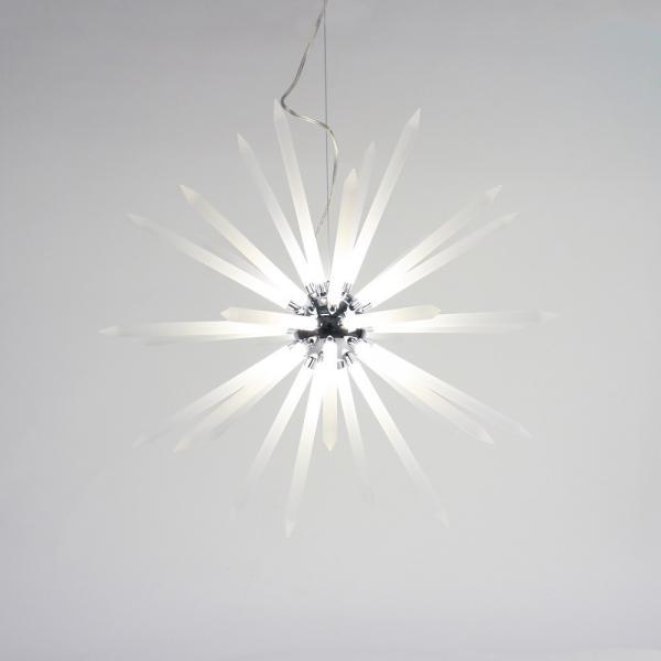 Peak LED Hängeleuchte mit Acryl-Stacheln Ø 75cm Chrom