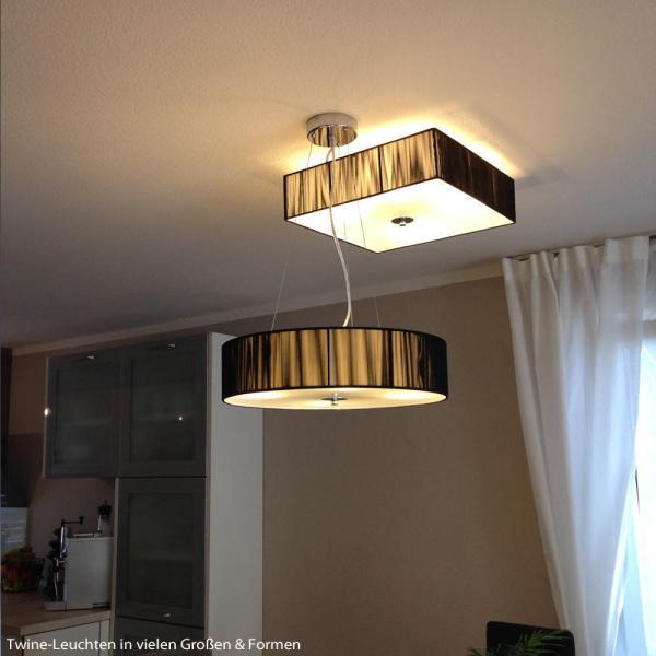 Twine Stoff-Deckenlampe 45x45cm Braun