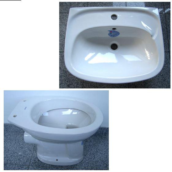 13. Special KERAMAG bathroom set washbasin 55cm + WC in white