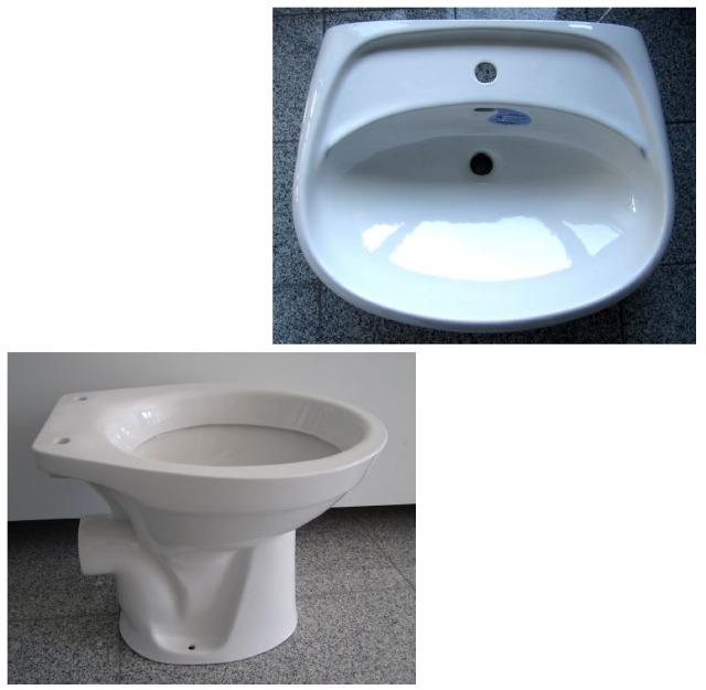 14. Special brands BATHROOM SET washbasin 55 / 65cm + WC in White