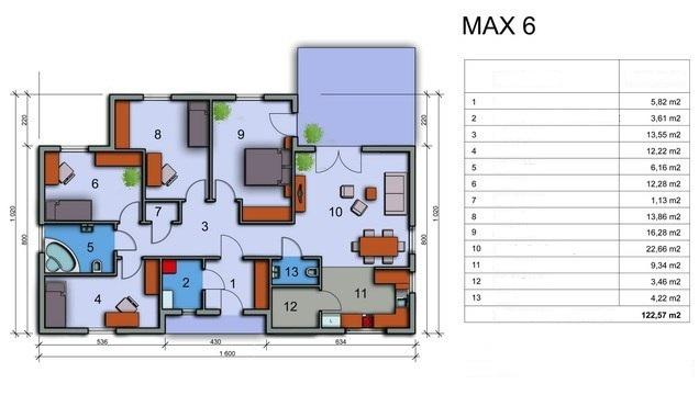Fertighäus Max 6 (121 m²)