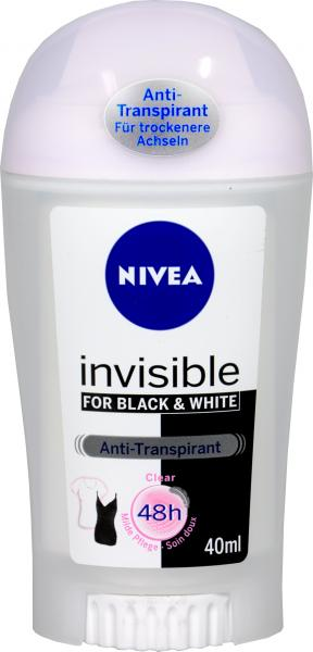 Nivea Deo Stick Invisible Black and White