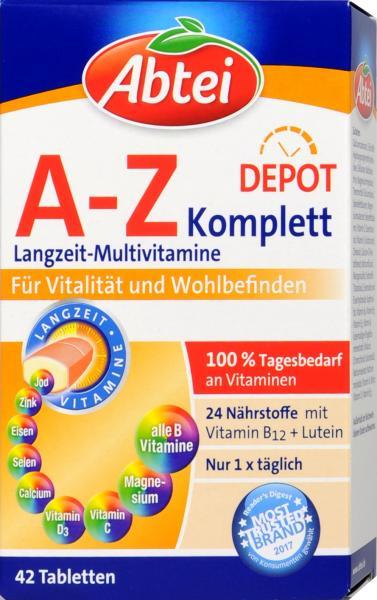 Abtei A-Z Komplett Multi Vitamin Plus Ginkgo