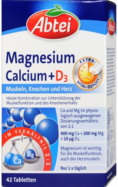 Abtei Magnesium Calcium + D3