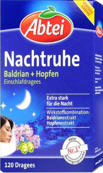 Abtei Nachtruhe Baldrian Schlaf-Dragees