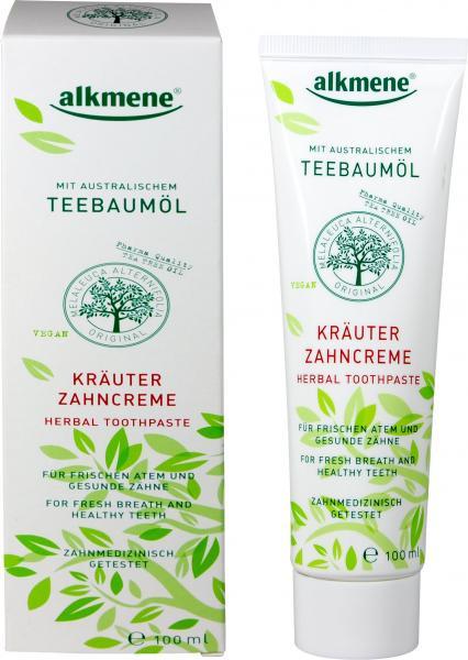 Alkmene Teebaumöl Kräuter Zahncreme