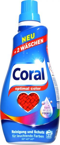 Coral Optimal Color Flüssigwaschmittel 1,4 l