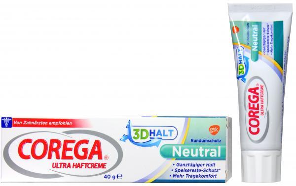 Corega Ultra 3D Haftcreme Neutral