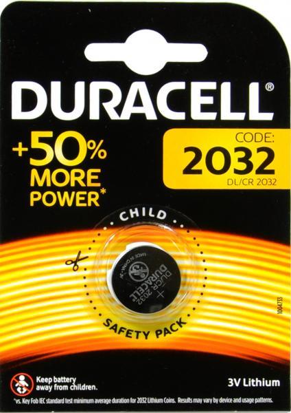 Duracell CR 2032   2 er Blister