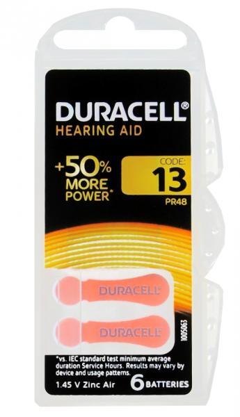 Duracell Hörgerätbatterie Rot DA 13