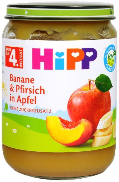Hipp 4360 Bio Banane Pfirsich In Apfel