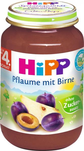 Hipp 4395 Bio Pflaume in Birne