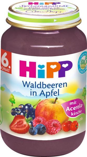 Hipp 4402 Waldbeeren in Apfel