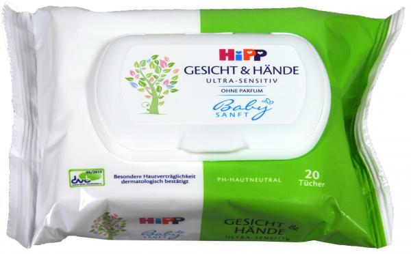 Hipp 9683 Babysanft Tücher Gesicht und Haut