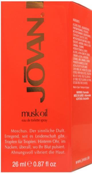 Jovan Musk Oil Eau de Toilette Spray