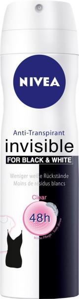Nivea Deo Spray Invisible Black and White
