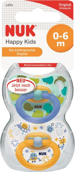 Nuk Happy Kids Latex-Schnuller Größe 1