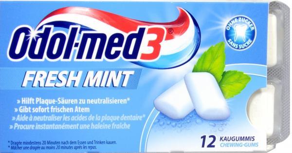 Odol Med 3 Kaugummi Fresh Mint Zuckerfrei