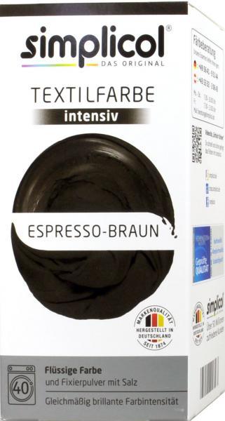 Simplicol Intensiv Textilfarbe Espresso-Braun