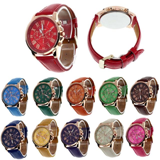 Modische Damenuhren - verschiedene Farben