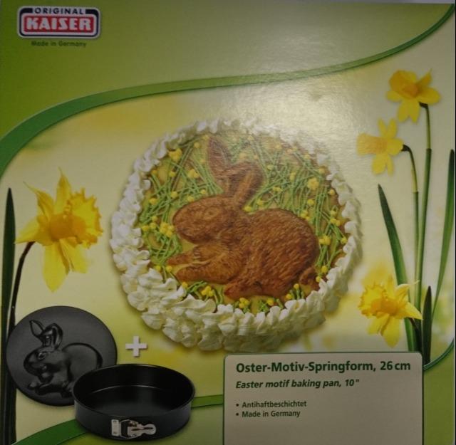 12-2300956961, KAISER Oster-Motiv Springform 26 cm