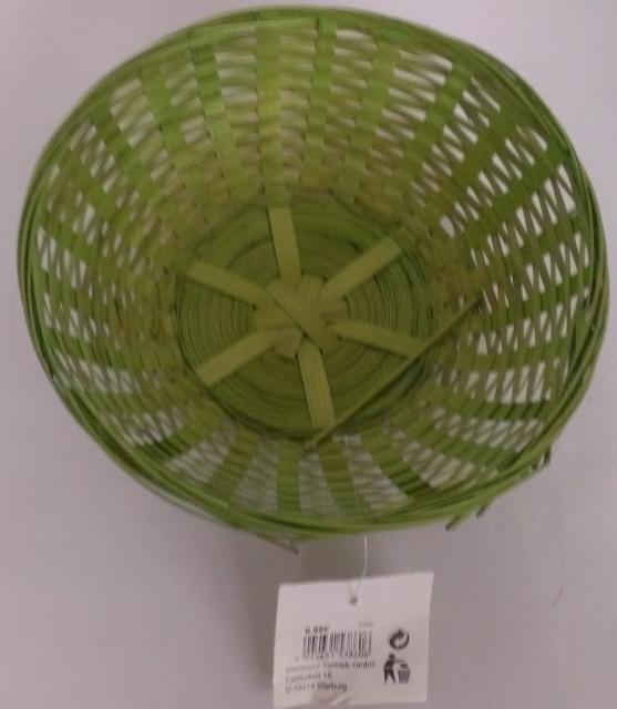 12-53860, Osterkorb 20cm grün, Osterkörbchen