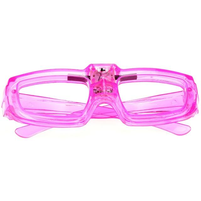 28-356557, Partybrille mit LED Licht, Leuchtbrille, mit integriertem Schallsensor: Brille leuchtet dadurch im Takt der Musik auf