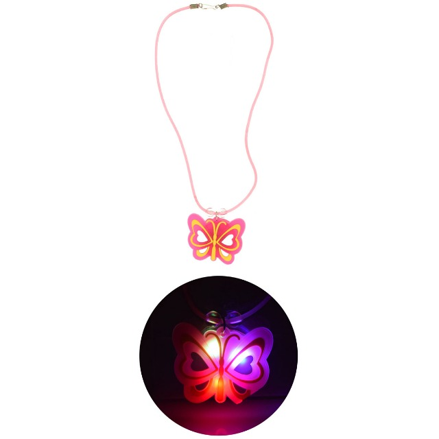 28-362856, Halskette Schmetterling, mit Licht, Modeschmuck